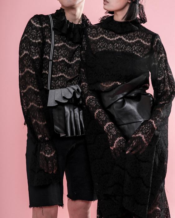 中外服装学校学生针织服装作品